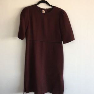MARNI wine double faced wool dress size 42